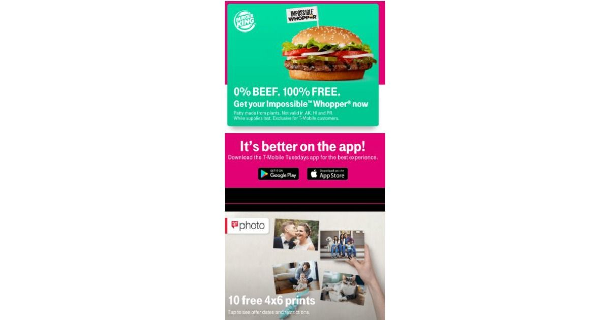 FREE Impossible Whopper, Free Food Taco Bell, Discounts