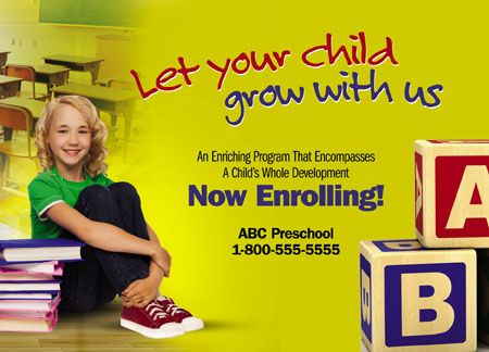 33 Brilliant Private School Education Direct Mail Postcard
