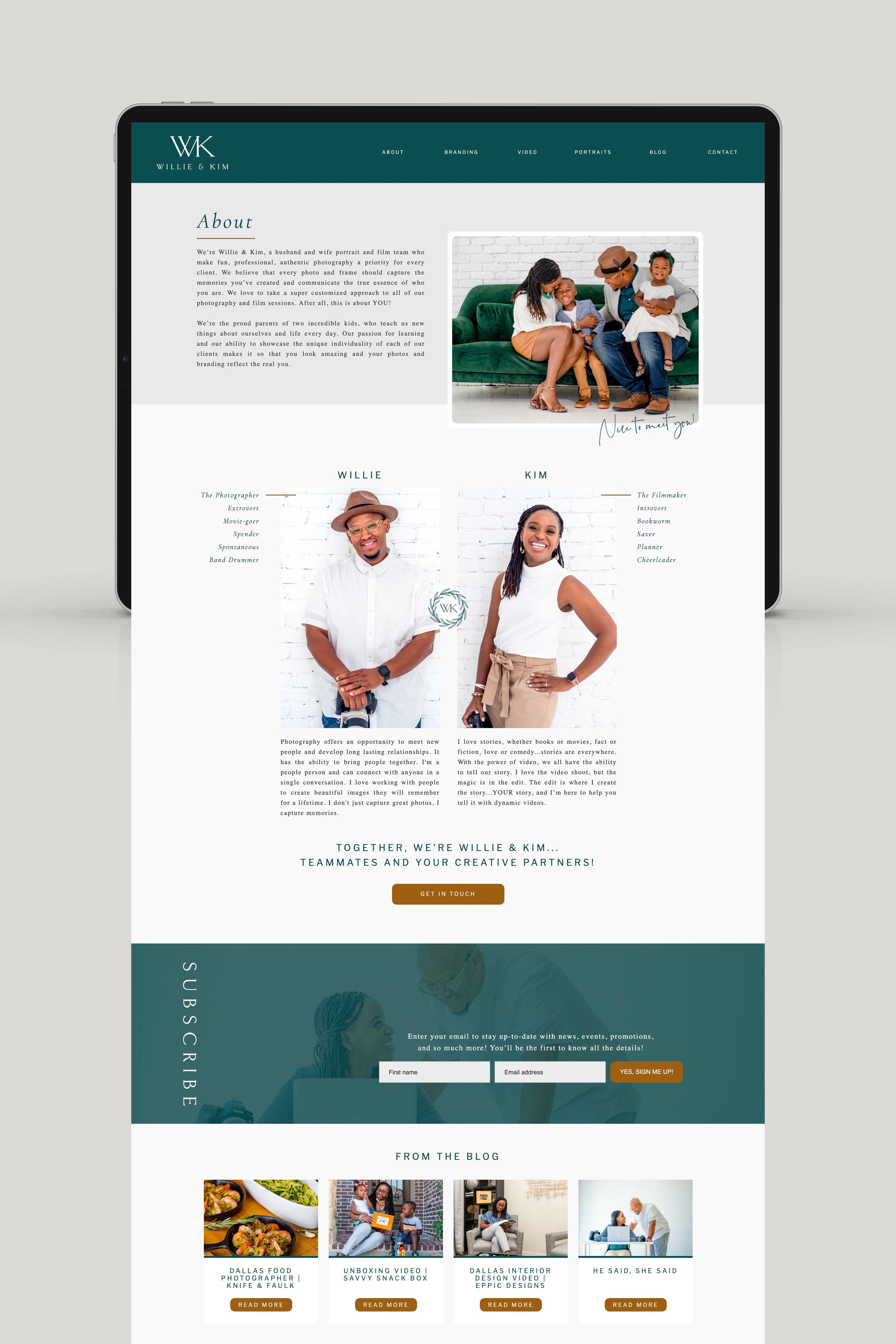 Brand And Web Design Forwillie Kim By Viva La Violet Heartfelt Brands Showit Websites Web Web Design Branding Website Design Website Design Inspiration