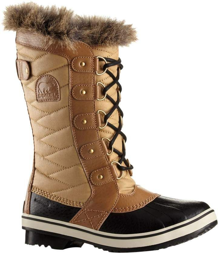 Tofino II Boot - Women's #winterboots Just because winter is here to stay for the foreseeable future doesn't mean you have to forgo your stylish ways. When Mother Nature unleashes more snow than your city knows what to do with, reach for the Sorel Women's Tofino II Boot to provide weather-proof protection and unimpeded style. A departure from the plain, stodgy style of the standard winter boot, the Tofino boasts leather overlays and faux fur to spice things up with a little haute-couture flair.