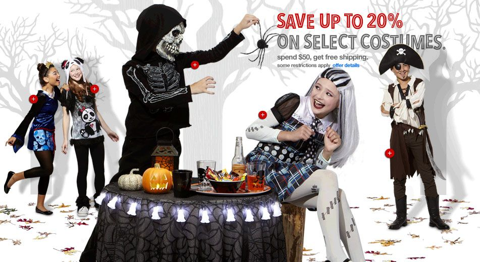 Target has everything you need for terrifying tricks and treats