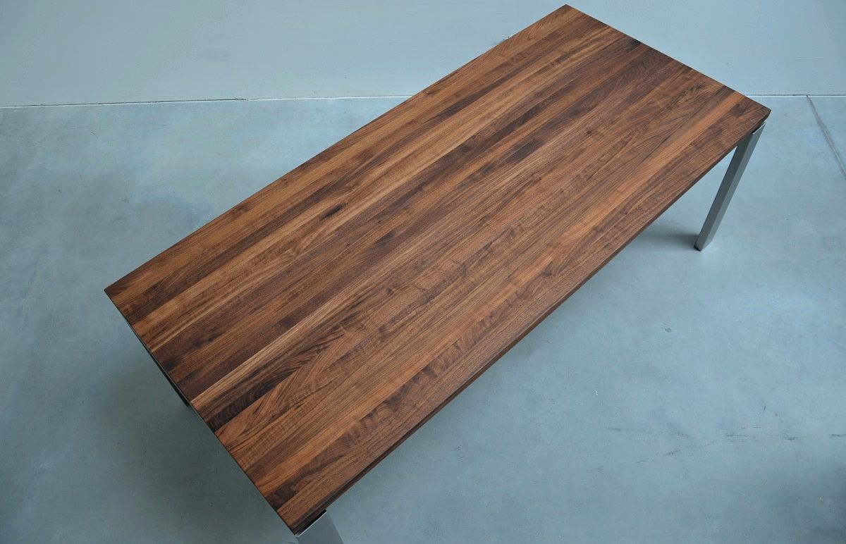 Tisch Nussholz Massivholz Tischplatte Amerikanischer Nussbaum Holz