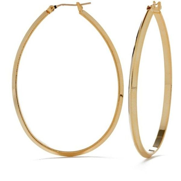 Kim Rogers Gold Extra Oval 14K Gold Filled Post Hoop
