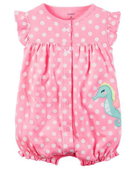 Snap-Up Neon Romper | Graphics for baby girl | Pinterest