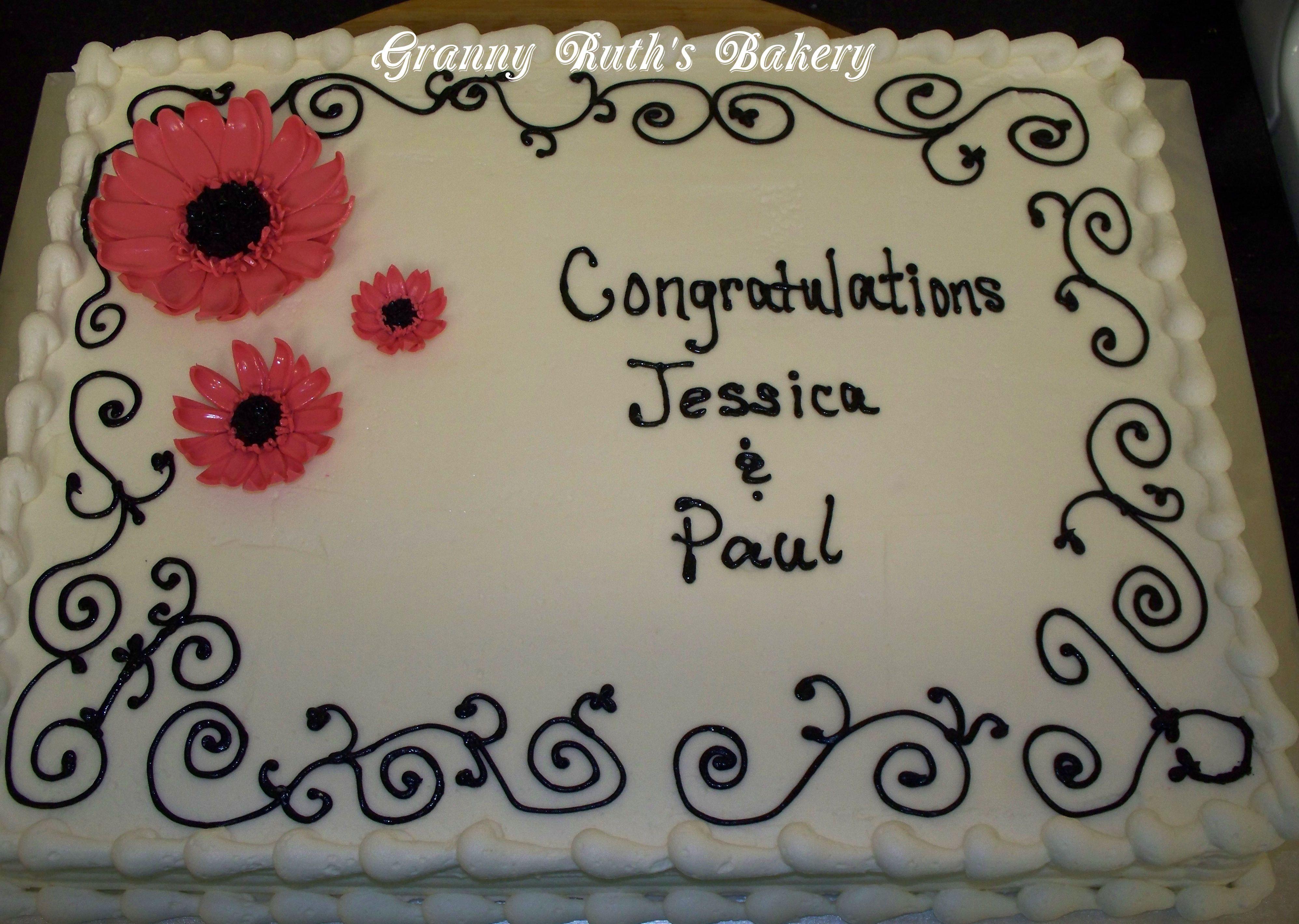 Simple Wedding Sheet Cakes Small Design On Cake Design
