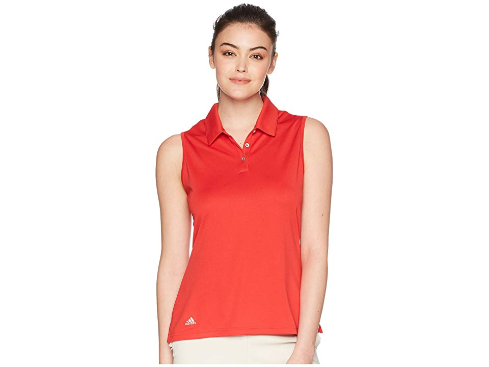 bdc5dca5bb6de adidas Golf Performance Sleeveless Polo (Collegiate Red) Women's Sleeveless.  Ditch the sleeves and