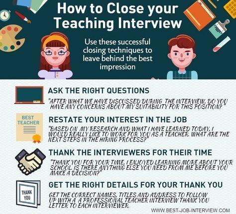 How To Close Your Teaching Interview Teacher Interviews