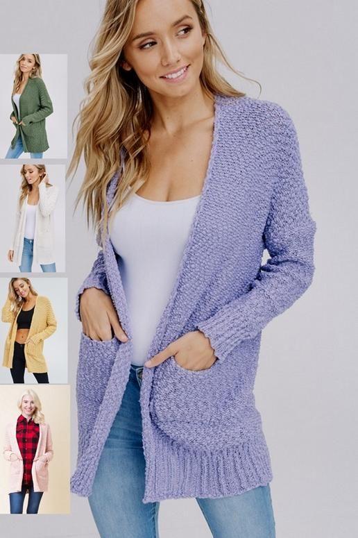 5c4d054690 Slim Fit Popcorn Cardigan Sweater - Many Colors
