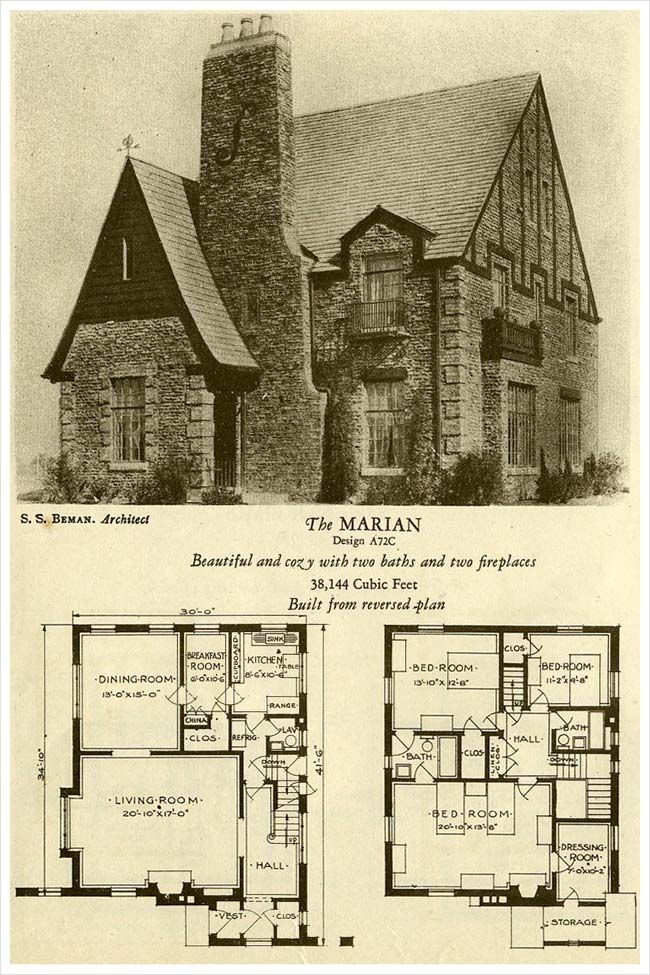 95 brick cottage house plans three popular cottage for English tudor cottage house plans