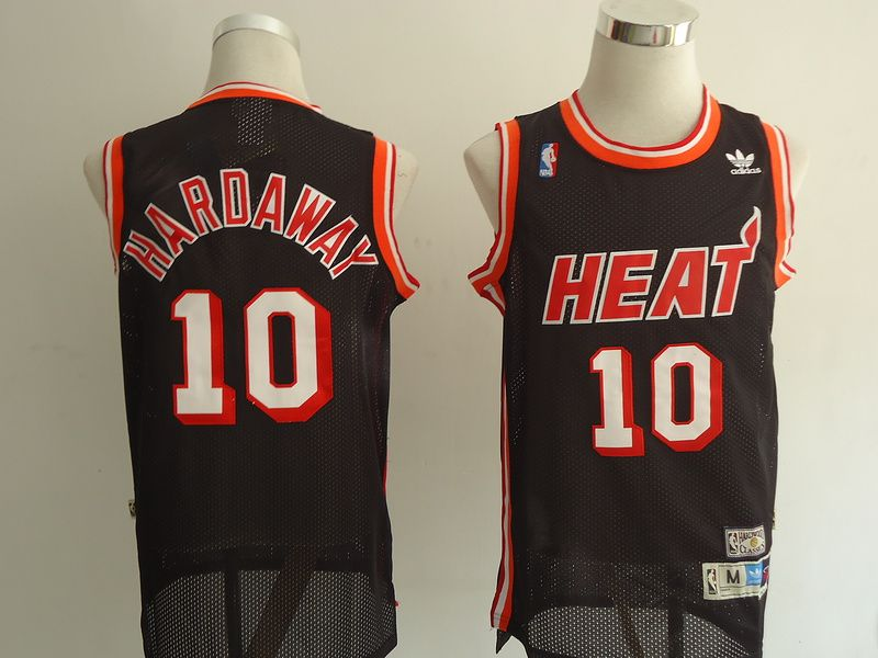 3569f6c65f8 Adidas NBA Miami Heat 10 Tim Hardaway Swingman Throwback Black Jersey