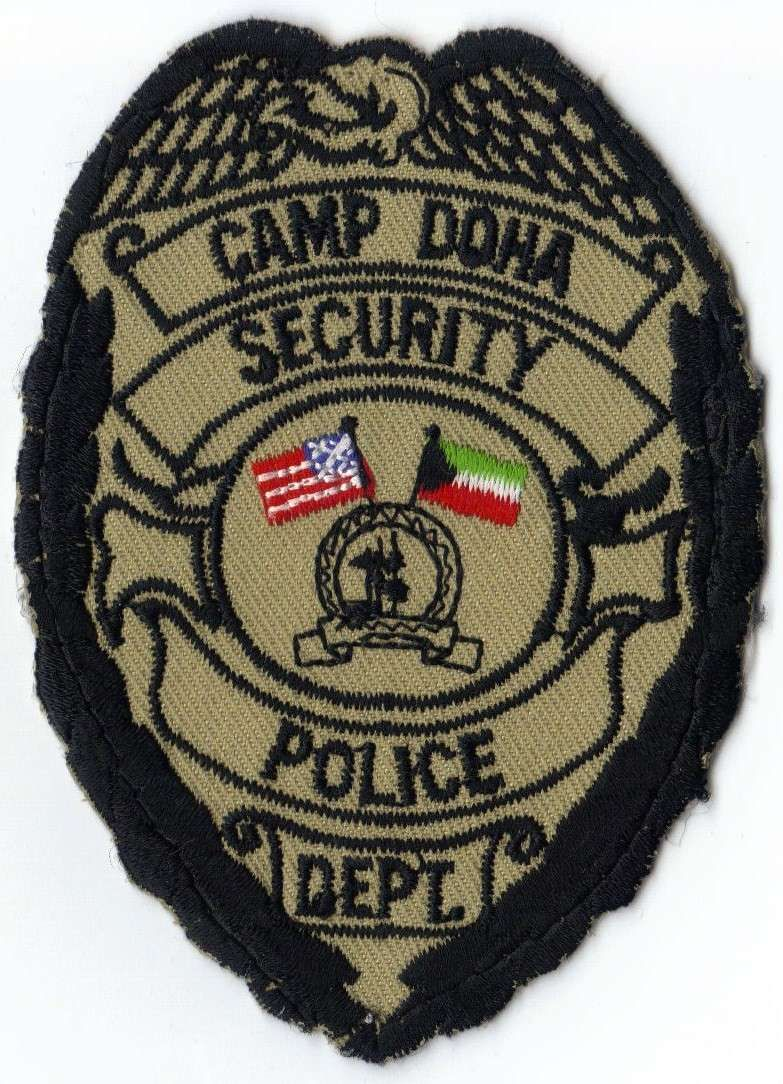 Camp Doha Security Police (USN) Police patches, Law