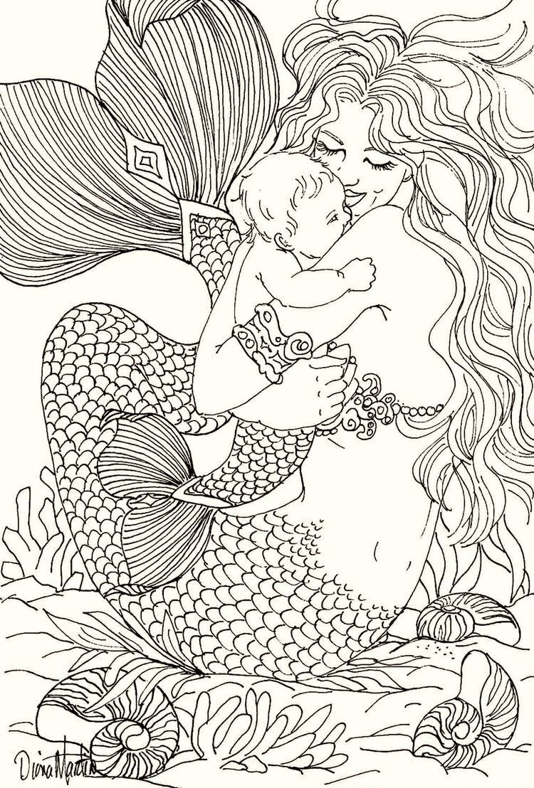 Pin By Rot Wein On M0mmin Mermaid Coloring Pages Mermaid Coloring Book Mermaid Coloring