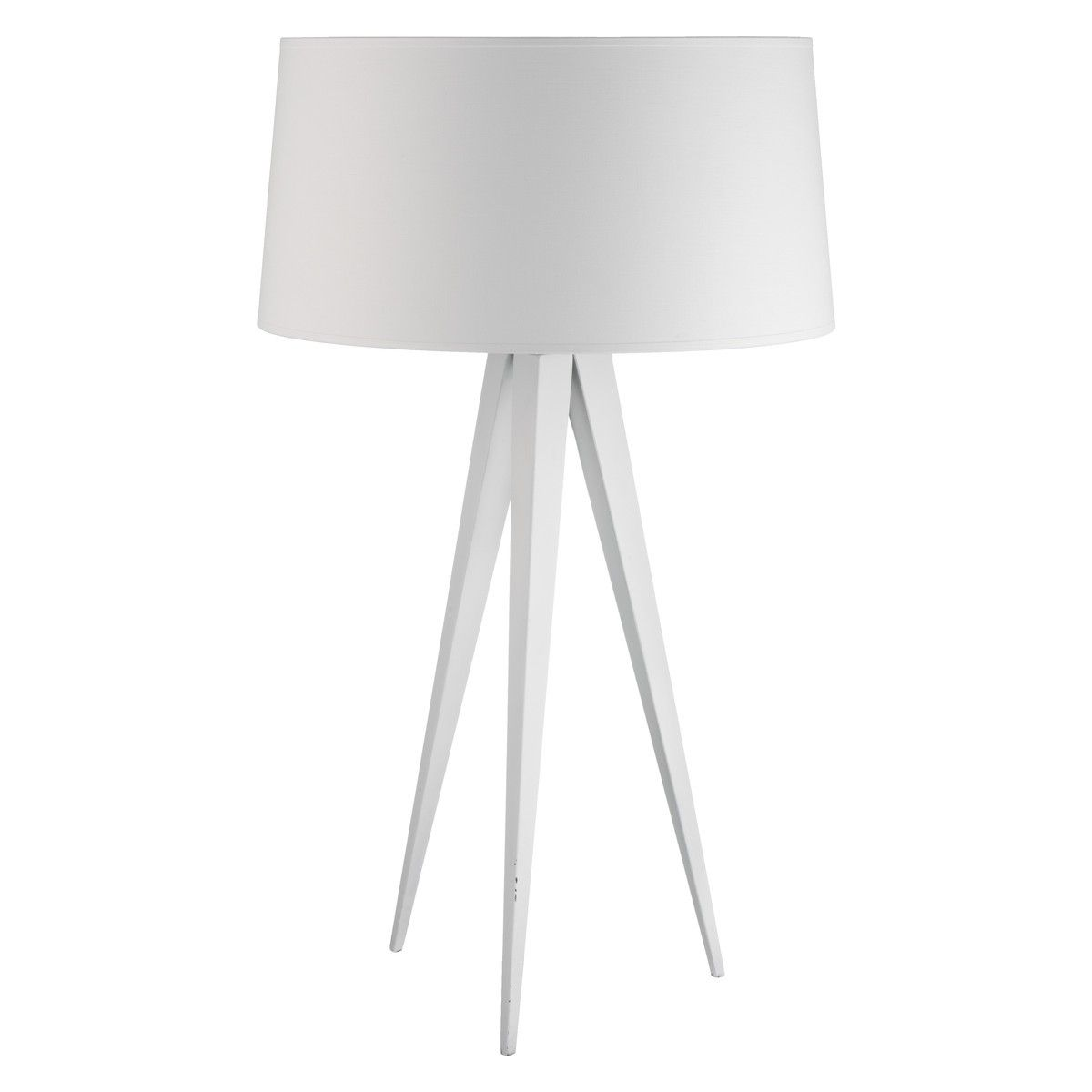 Yves White Metal Tripod Table Lamp Base