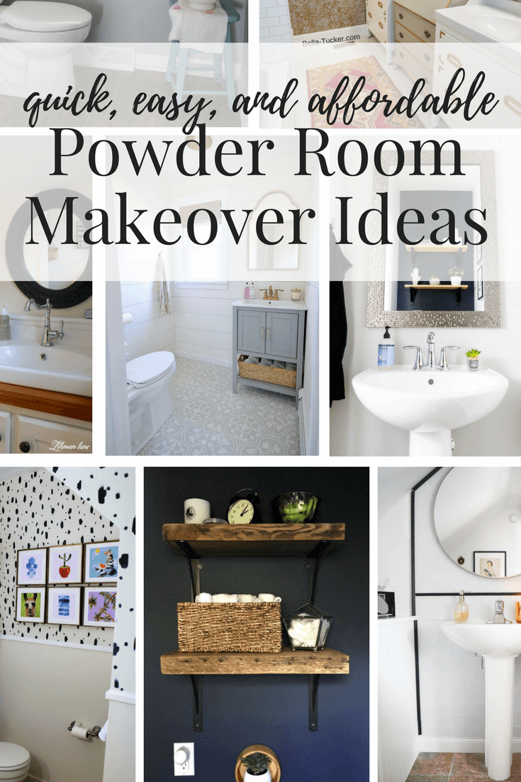 Easy Affordable Diy Powder Room Makeovers Great Ideas For Half Bath Renovations On A Budget Room Makeover Powder Room Small Bath Renovation