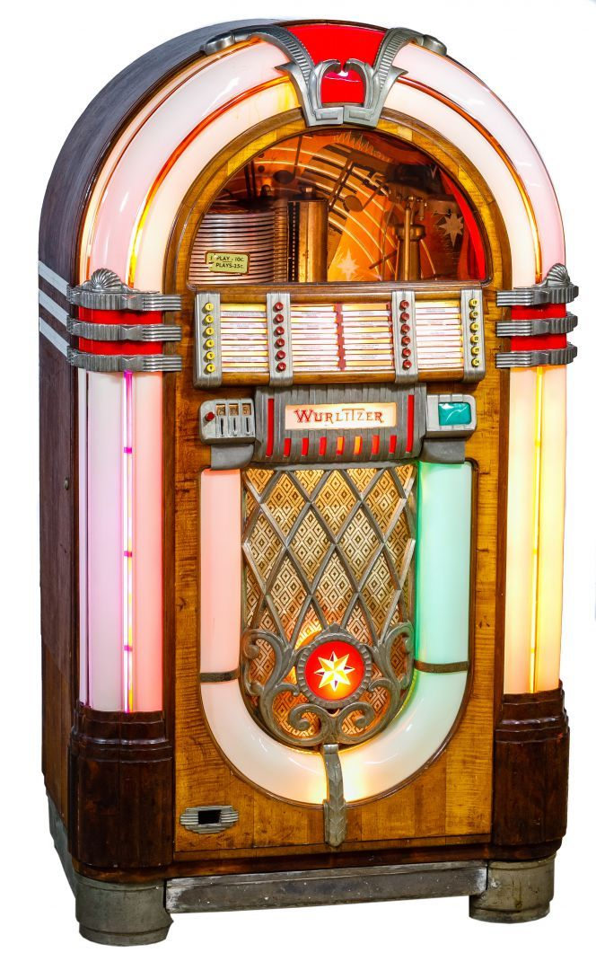 Lot 482 Wurlitzer Model 1015 Juke Box With Records C 1946 Coin Operated 20 Play 78rpm Jukebox With Revolving And Bubble Ligh Jukeboxes Jukebox Coin Operated