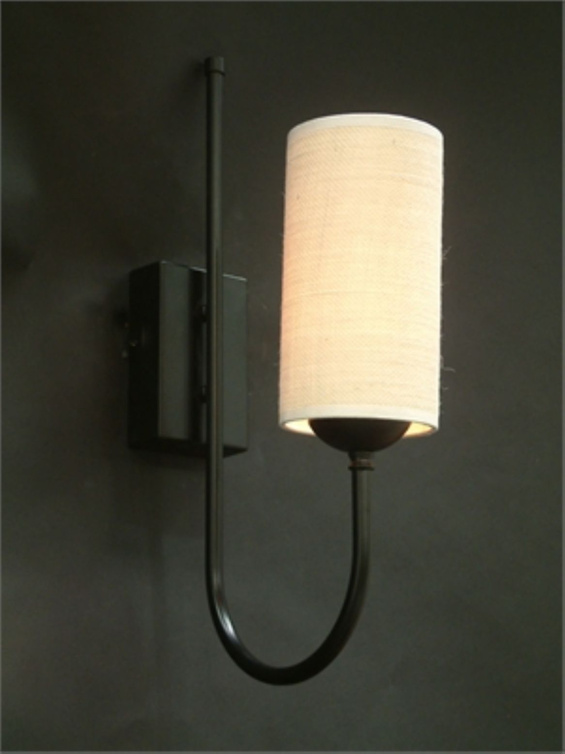 Single wall light in black with hessian shade lighting pinterest single wall light in black with hessian shade aloadofball Choice Image