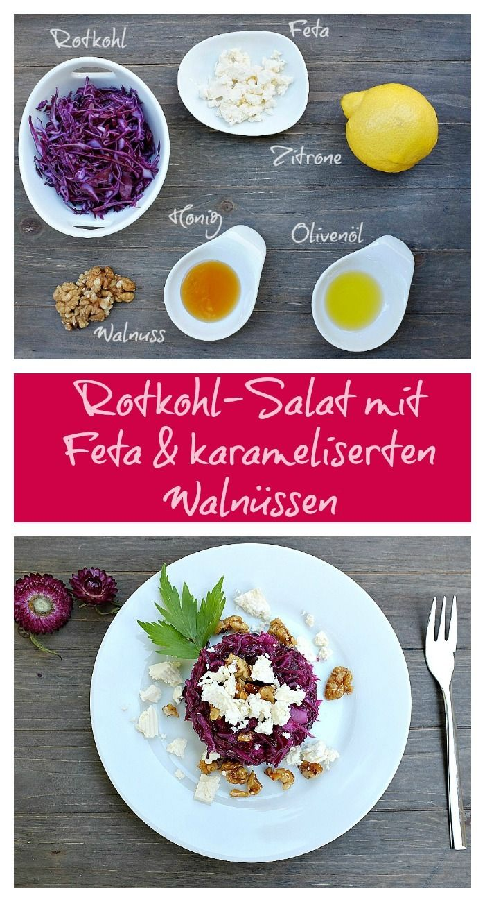 Photo of Red cabbage salad with feta and caramelized walnuts – quick recipes from my kitchen
