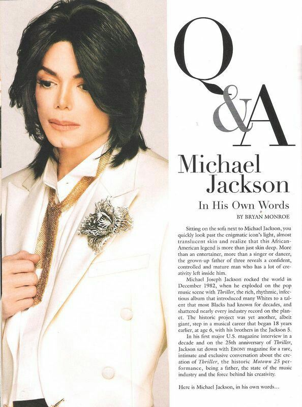 WORLD'S BIGGEST SUPERSTAR IN HIS OWN WORDS - Michael ...
