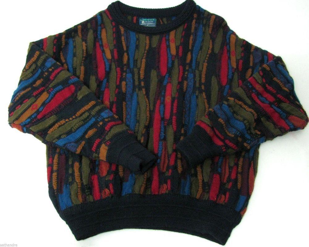 Limnos 100% New Wool Knit Sweater Australia Men M Red Blue Green ...