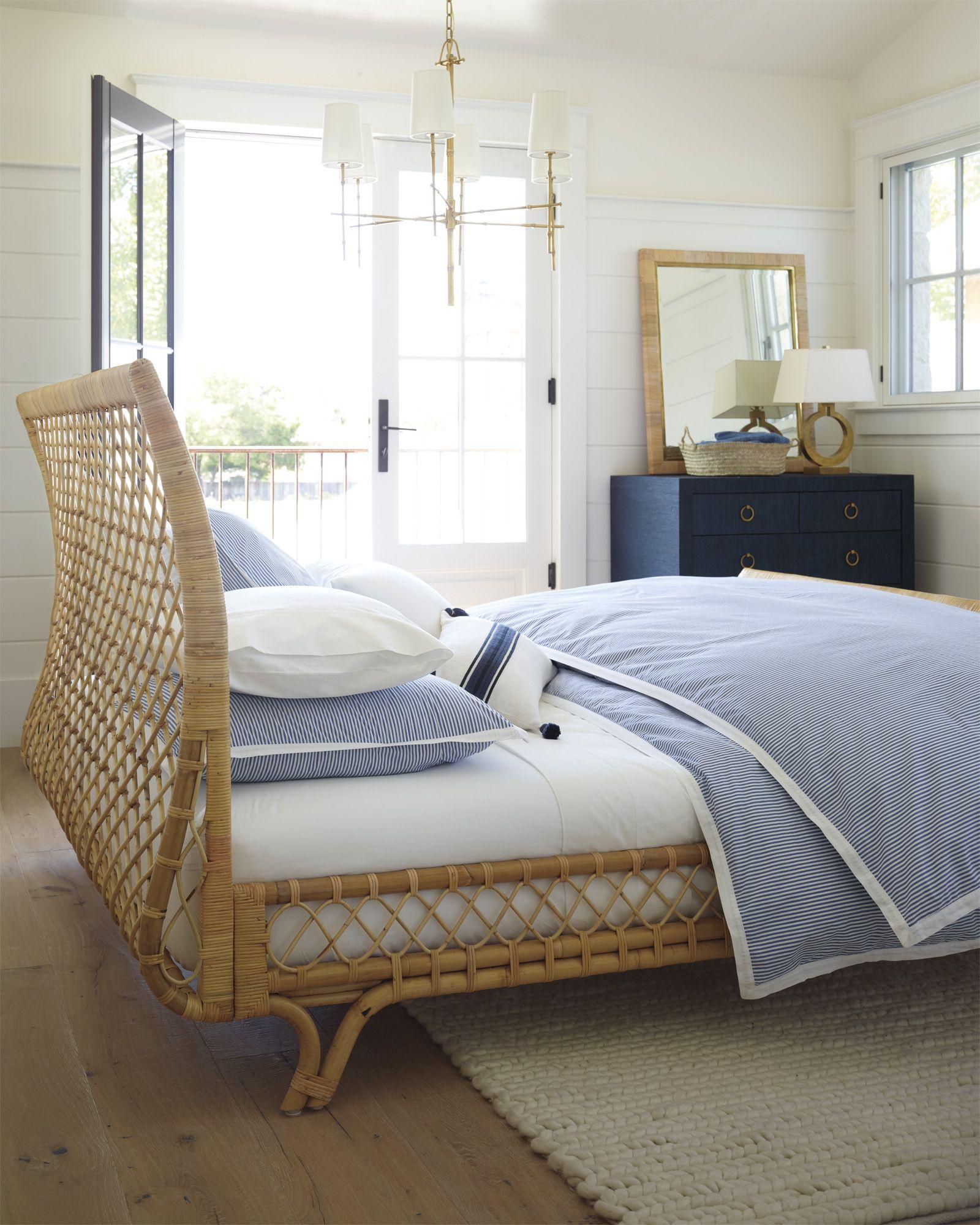 Lighting fixture brass Serena & Lily Coastal bedroom