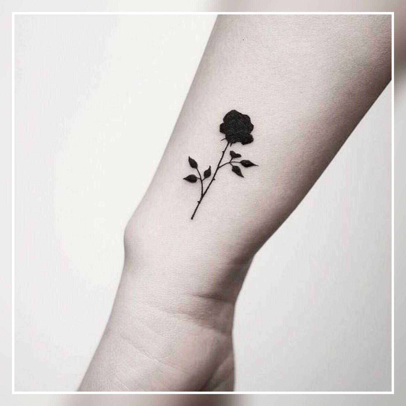 33 Tiny Rose Tattoo Ideas Tattoo Small Rose Tattoo Small Black Tattoos Black Rose Tattoos