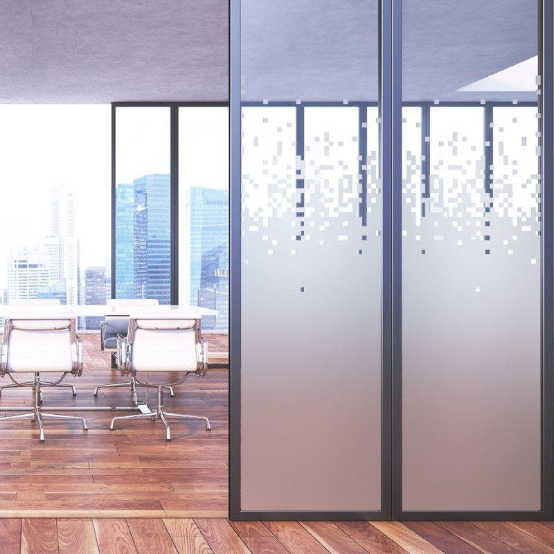 dans une salle de r union ou dans un bureau posez ce sticker d poli sur vos vitres pour assurer. Black Bedroom Furniture Sets. Home Design Ideas