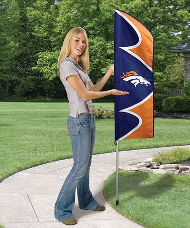 Another great find on #zulily! Denver Broncos Swooper Flag & Pole #zulilyfinds