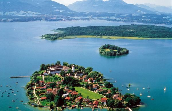 Island In Lake Chiemsee With The Herren Chiemsee Palace Bavaria Germany Places To Travel Germany Travel Beautiful Places To Visit