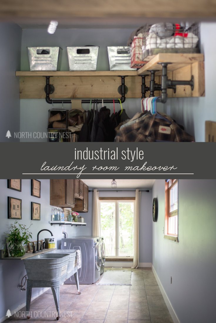 Industrial Style Laundry Room Renovation Almost Final Reveal