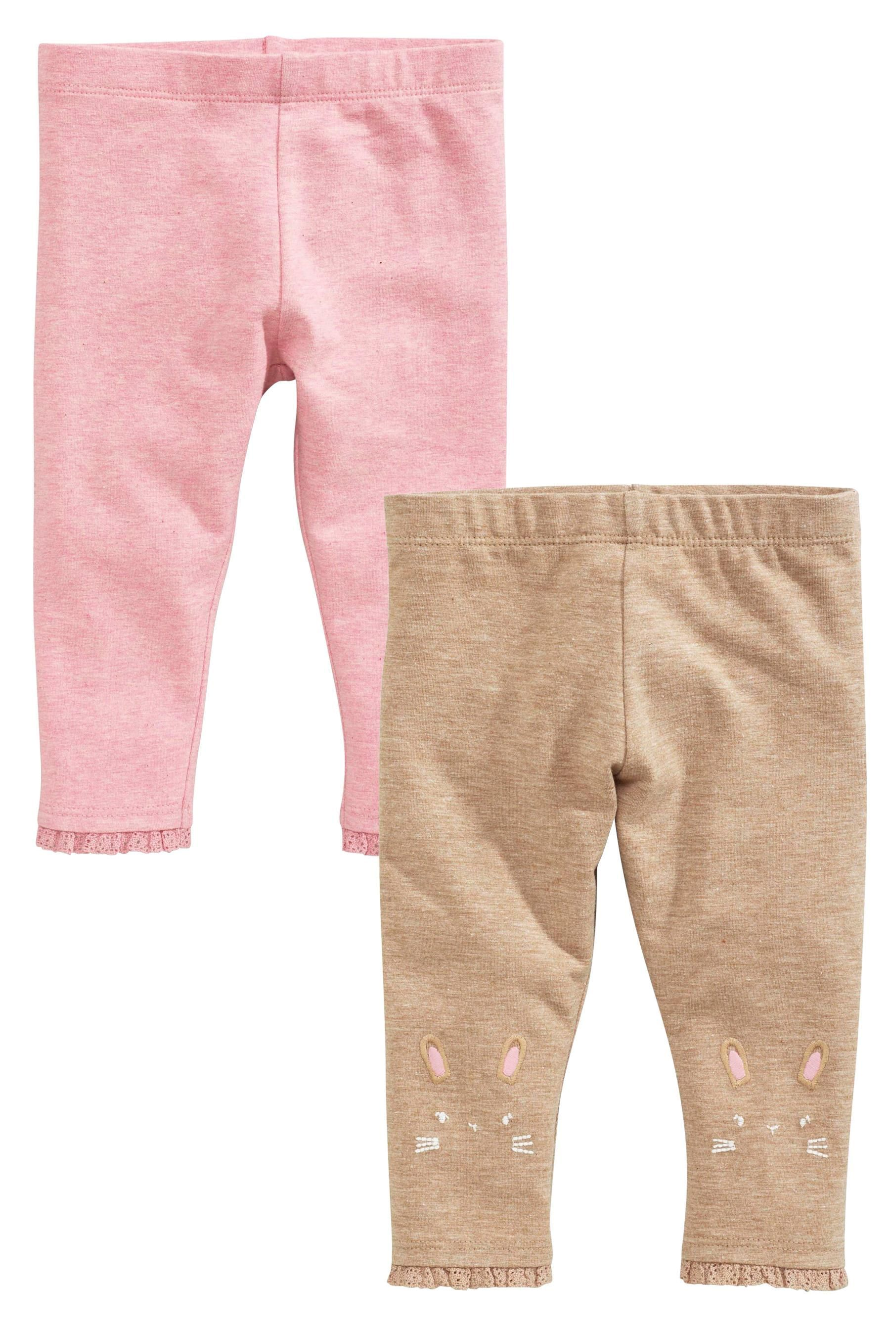 eded5d554b34 Buy Pink Mink Leggings Two Pack (0mths-2yrs) from the Next UK online ...