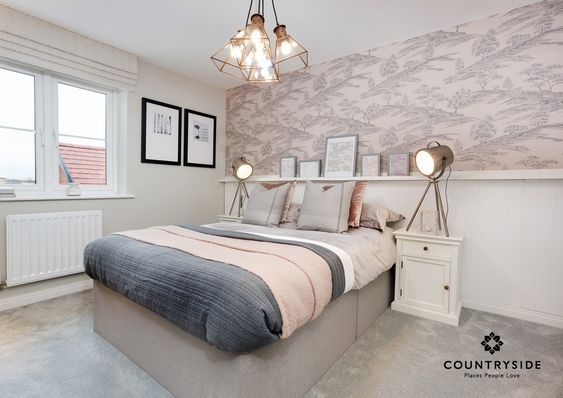 #newhome #dreamhome #property #countryside #familyhome #forsale #househunting #interiortips #interiordesign #interiortrends #luxuryliving #homedecor #homedesign #bedroom #neutral #lighting #bedding #wallpaperinspo #bedroominspo
