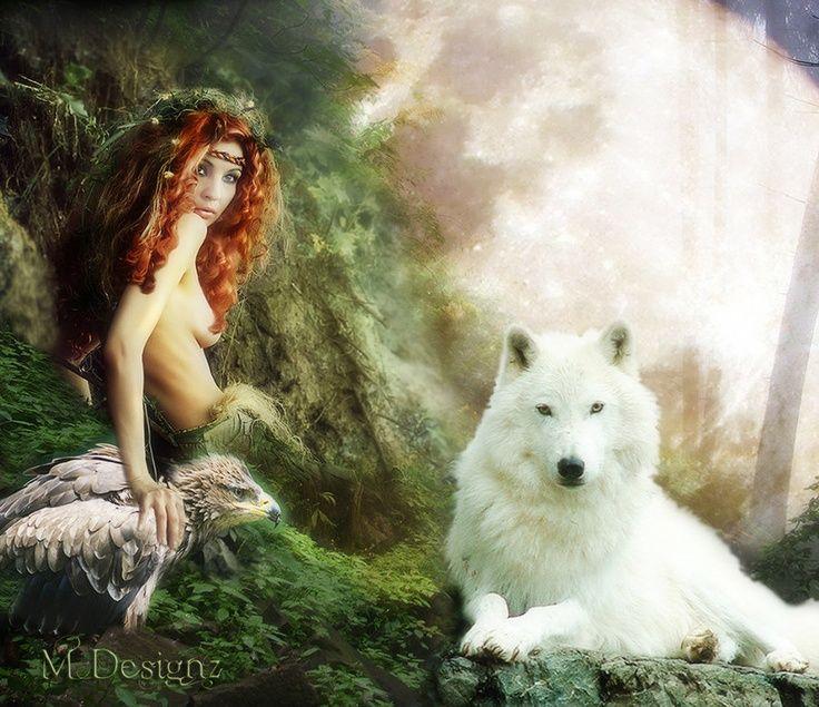 Risultati immagini per woman wolf fantasy