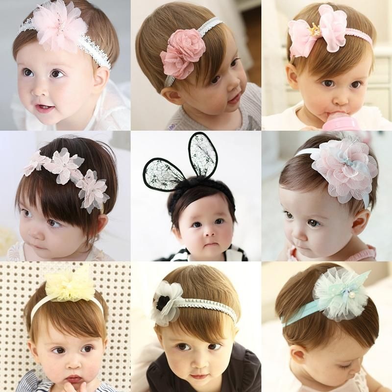 1PC Fashion Baby Girls Leather Tiara Hair Band Headband Kids Elastic Headwear