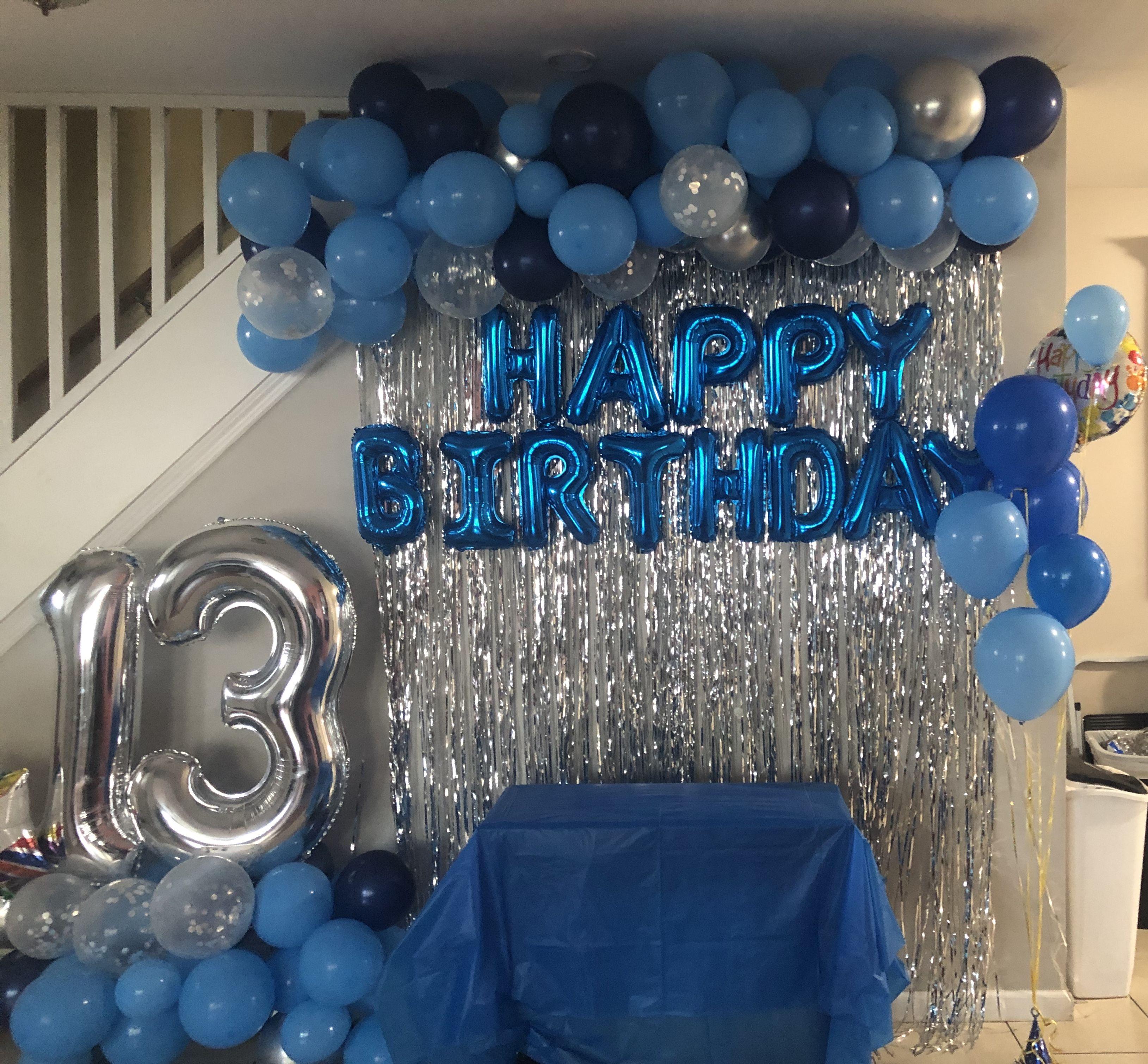Birthday Party Ideas For Boys Decoraciones De Globos Para Fiesta Ideas De Cumpleanos Para Novio Decoraciones De Fiesta Azul
