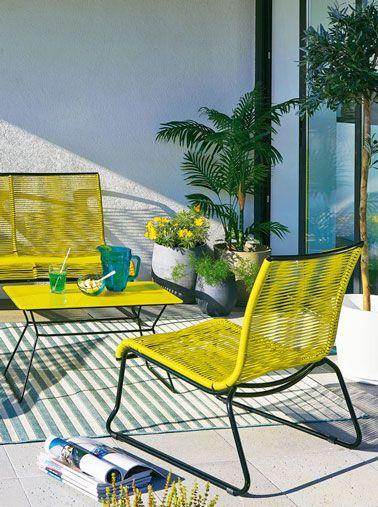 Une déco de balcon pimpante grâce à la couleur | Jaune soleil ...