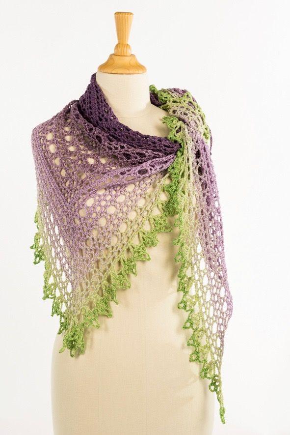 Lavender Cake Shawl Crochet Pattern | Schals, Tücher und Strick