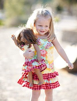 2cbf6a0c96 Matching Girl and Doll Clothes Patterns | Sewing Projects ...