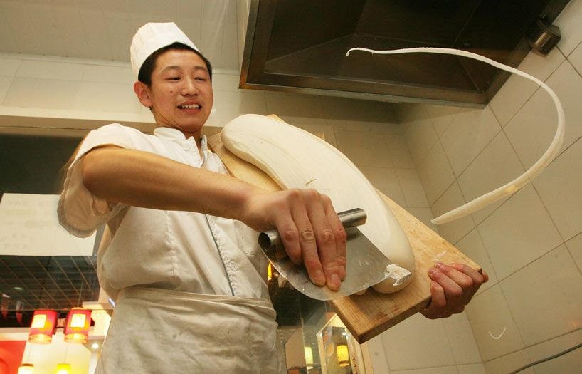 how to make chinese knife cut noodles