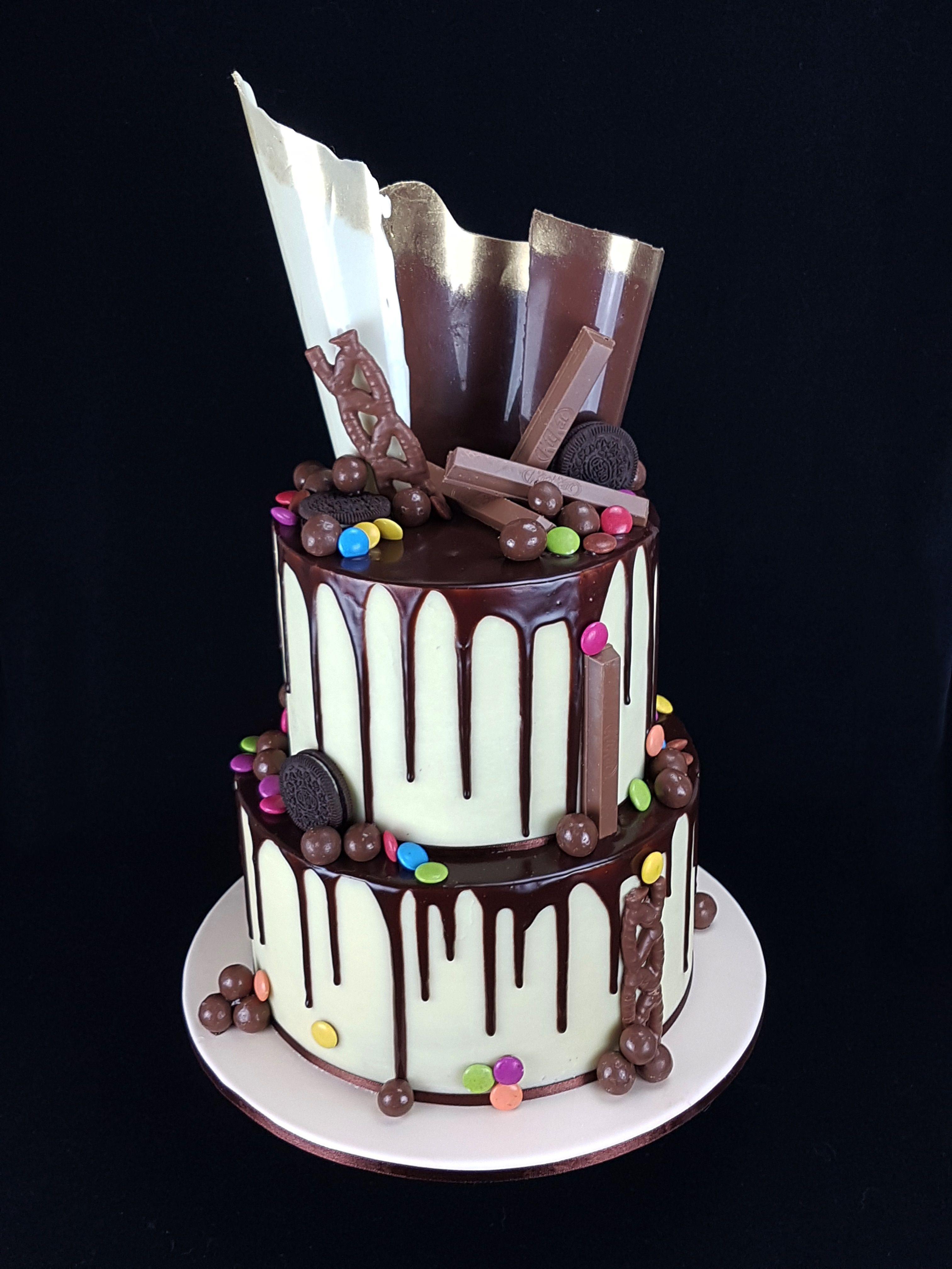 Drip Cake A Combination Of Milk Chocolate Mud Cake With