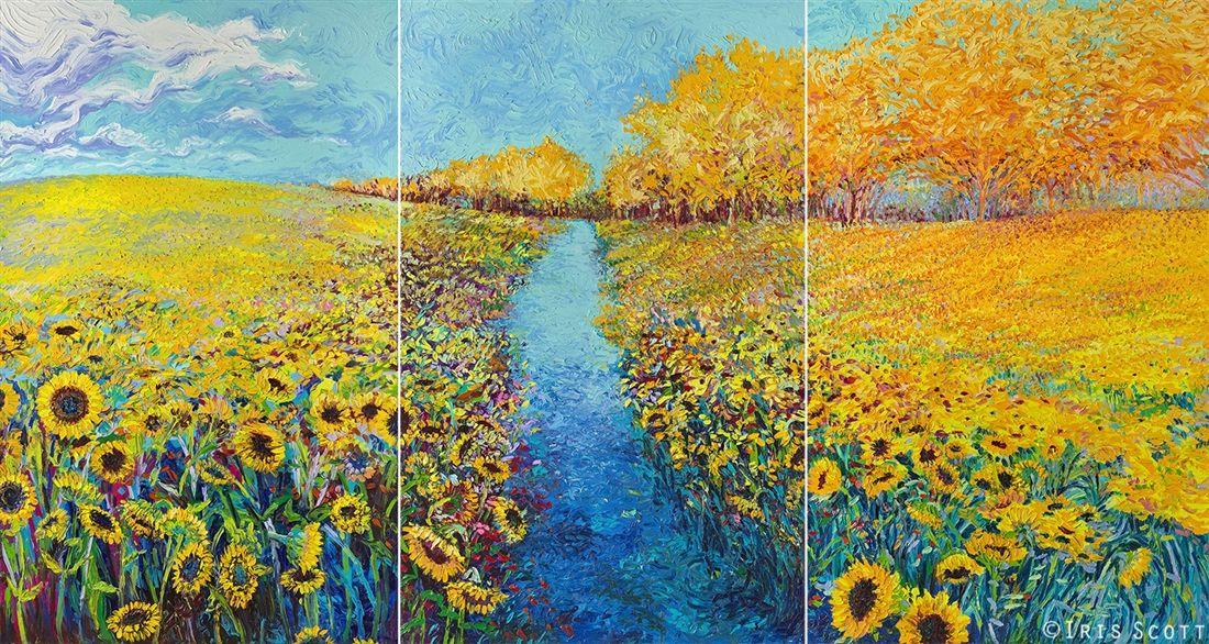 iris scott finger painting | Iris Scott Fine Art | Sunflower ...