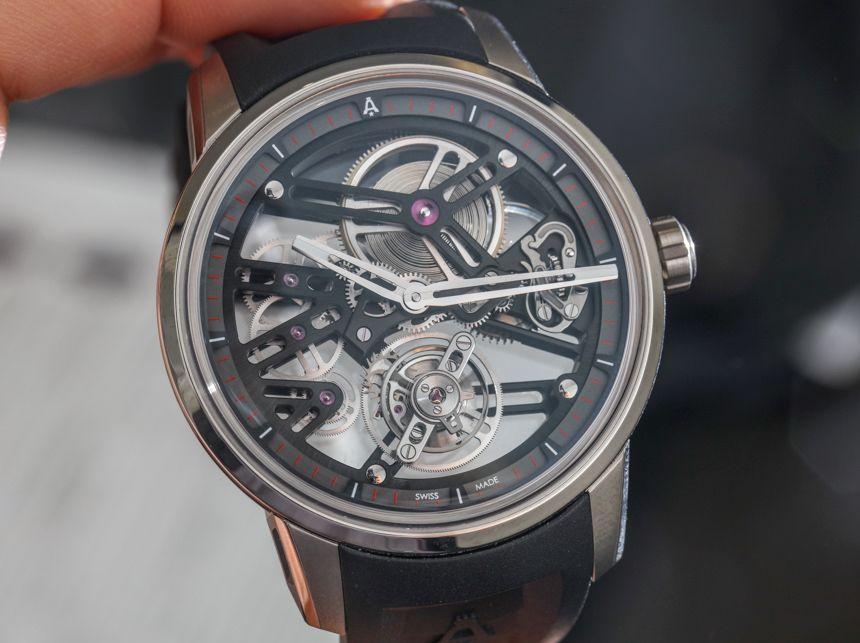 Angelus U40 Racing Tourbillon Skelett Uhr Hands On Uhren