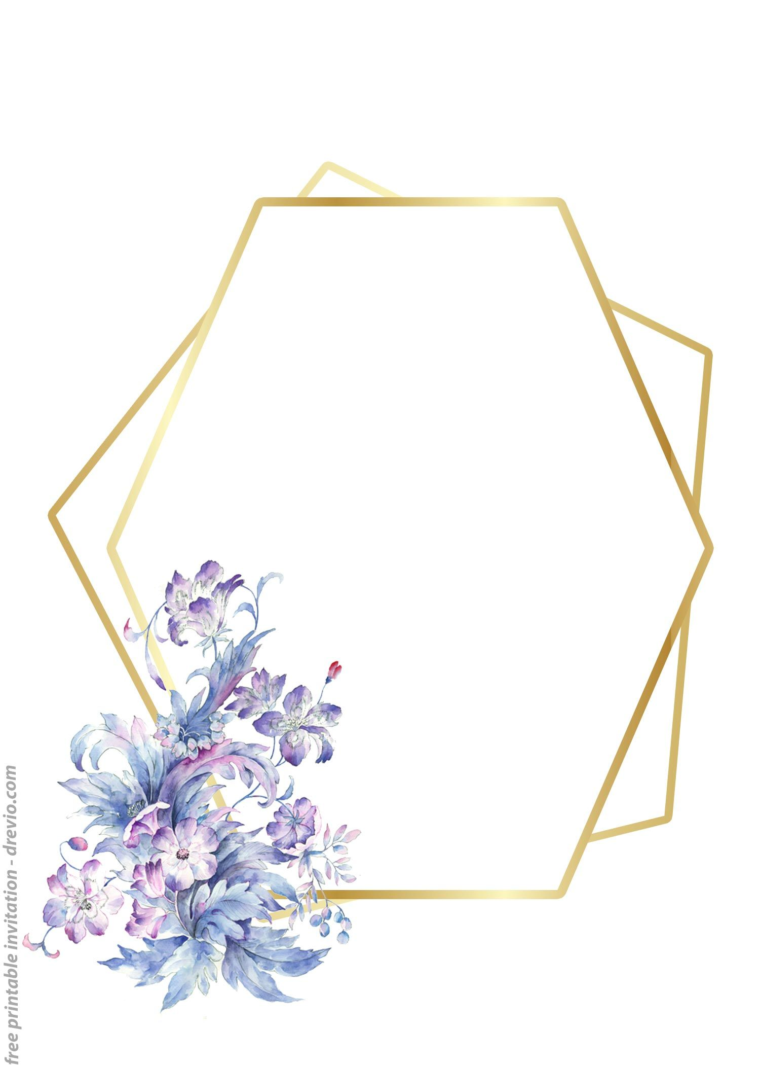 24 Free Printable Floral Watercolor Invitation Templates For