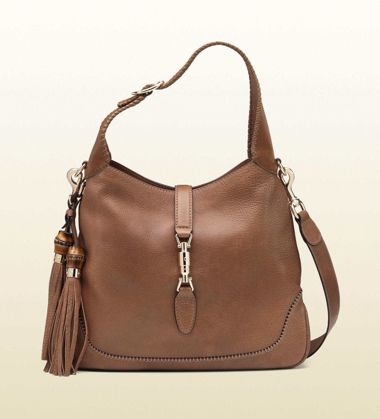 818d747191 sac à épaule new jackie en cuir marron clair | bags | Bags, Gucci ...