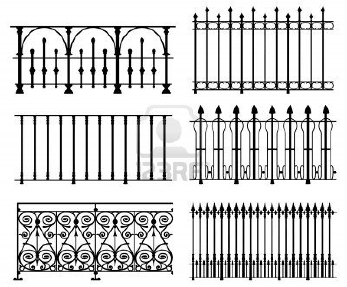 White wrought iron modular railings and fences stock photo for Balcony meaning in english