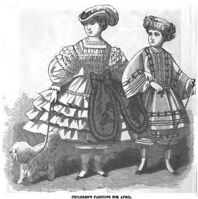 150 years ago! Children's Fashions April 1861