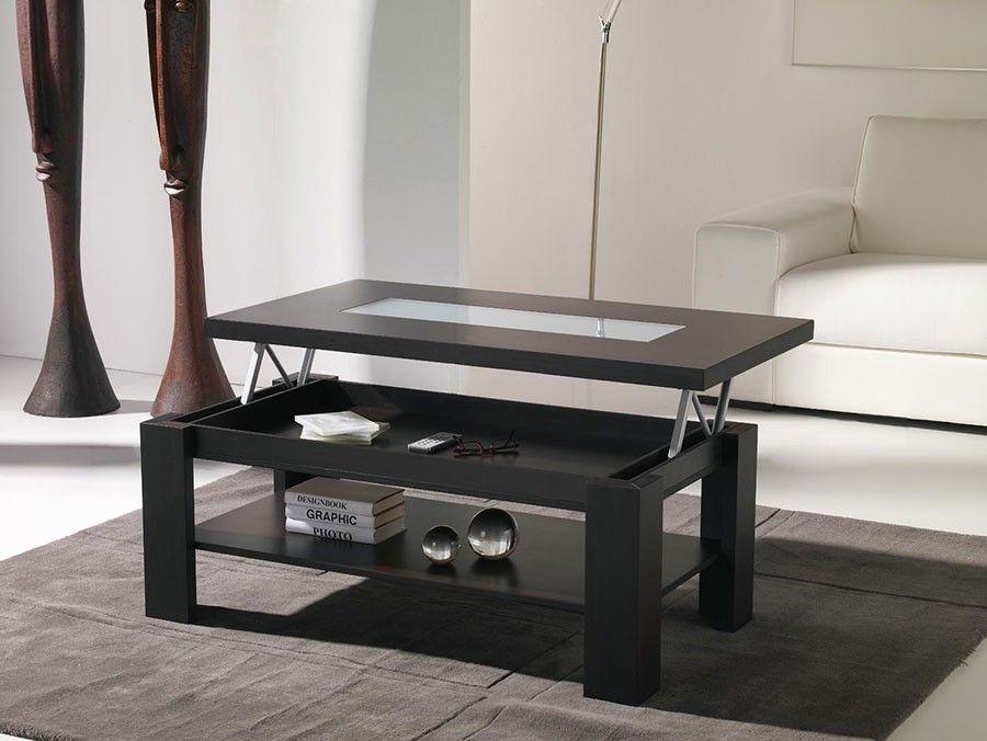 Table Basse Relevable Contemporaine Wina Coloris Wenge Table Basse Relevable Table Basse Table Relevable