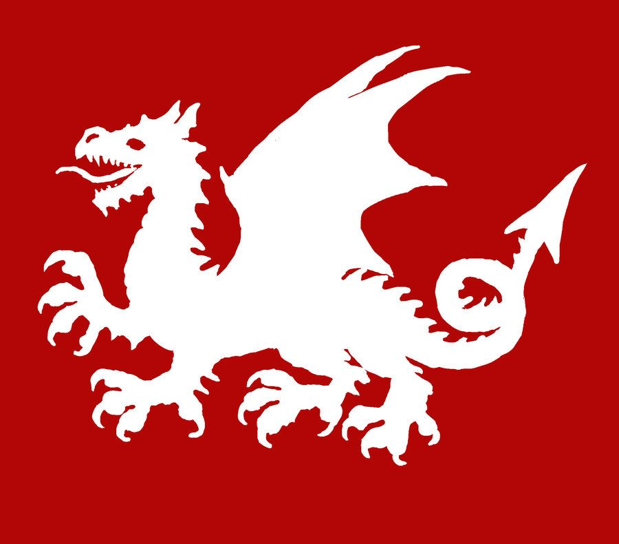 White Dragon Flag Of Pendragon Knights Of The Round