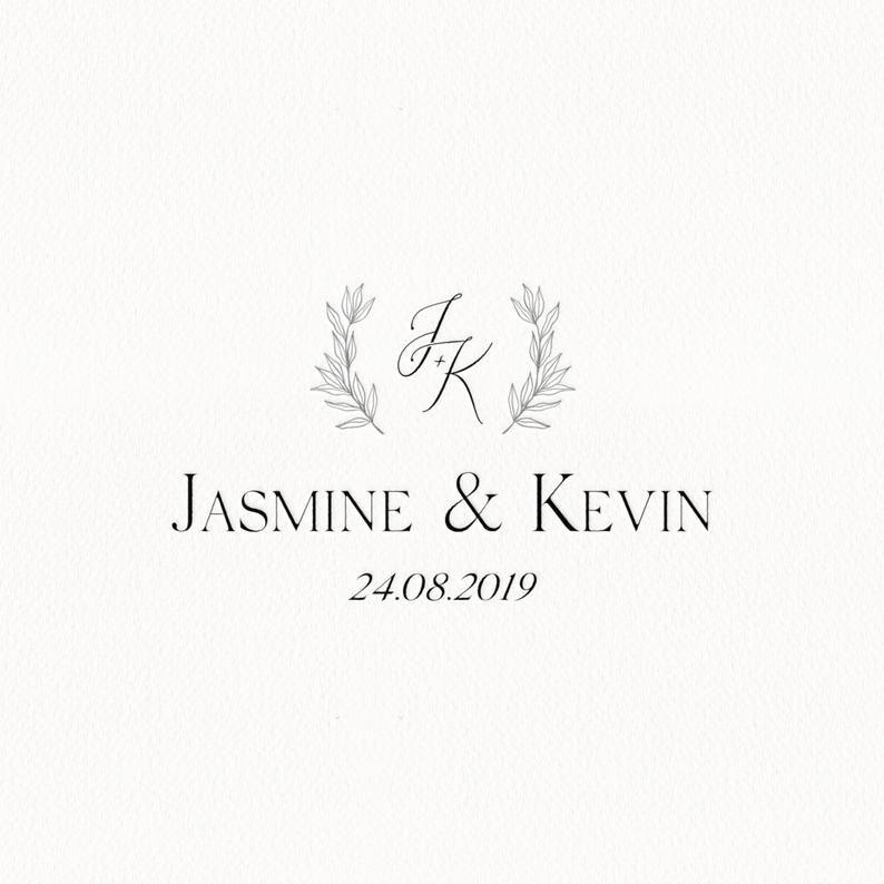 Wedding Logo Design Custom Wedding Monogram Botanical Logo Etsy Wedding Logo Design Wedding Logo Monogram Custom Wedding Monogram