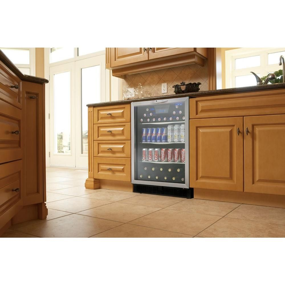 Home snack center - Danby Silhouette 112 Can Built In Beverage Center