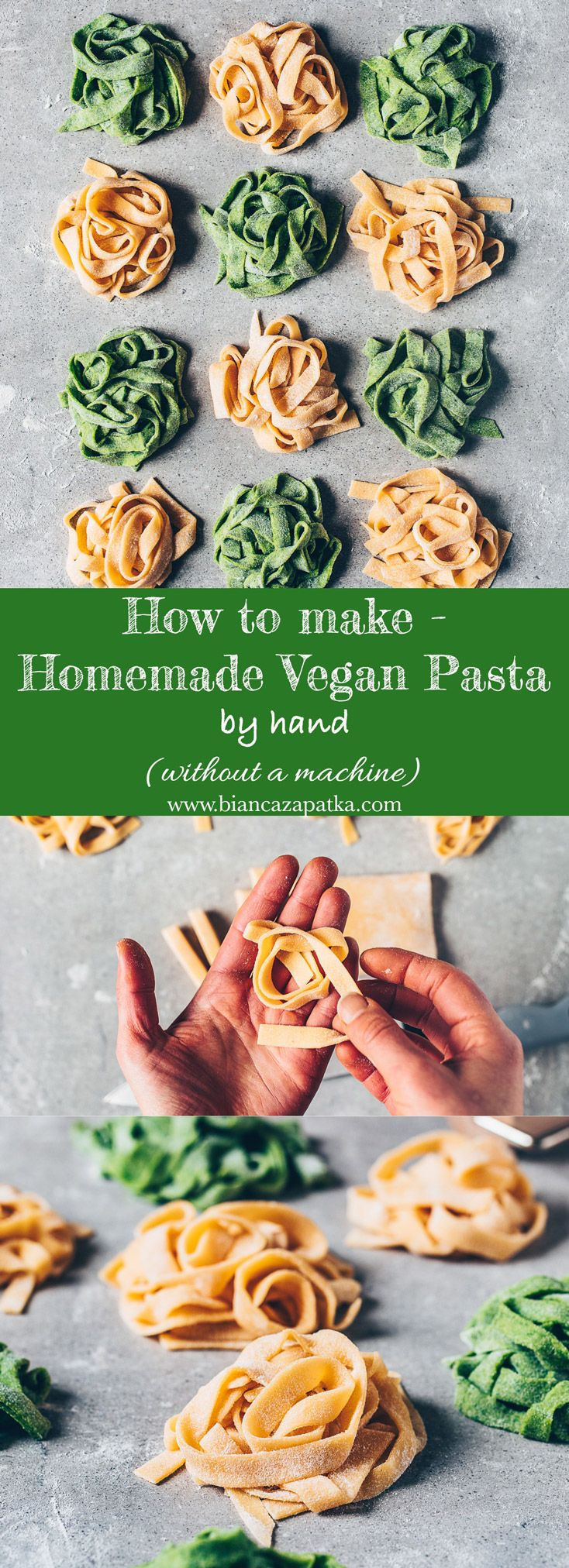 Photo of Homemade Vegan Pasta Recipe (Eggless Pasta Dough) – Bianca Zapatka   Recipes